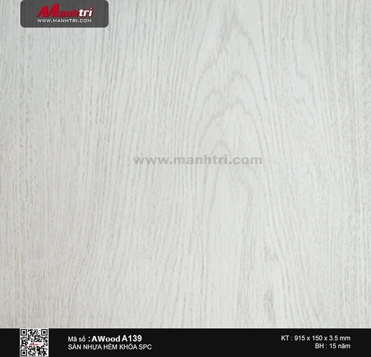 Sàn nhựa hèm khóa Awood SPC A139