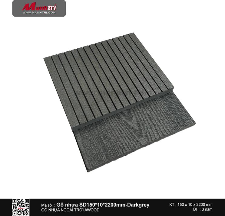 Gỗ ốp tường SD150x10 Dark grey