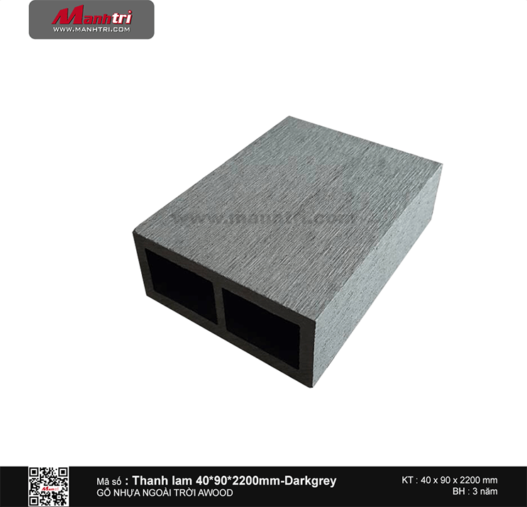 Thanh lam 40x90 Dark grey