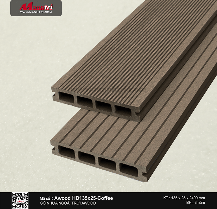 Sàn gỗ Awood HD135x25-Coffee