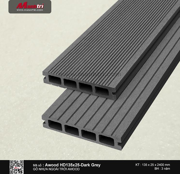 Sàn gỗ Awood HD135x25-Dark Grey