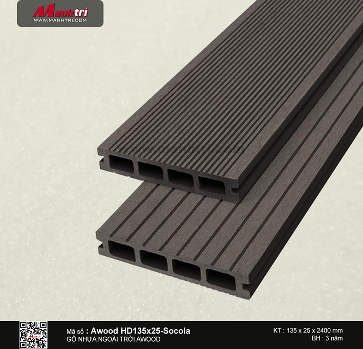 Sàn gỗ Awood HD135x25-Socola