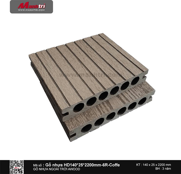 Sàn gỗ Awood HD140x25-6R Coffee