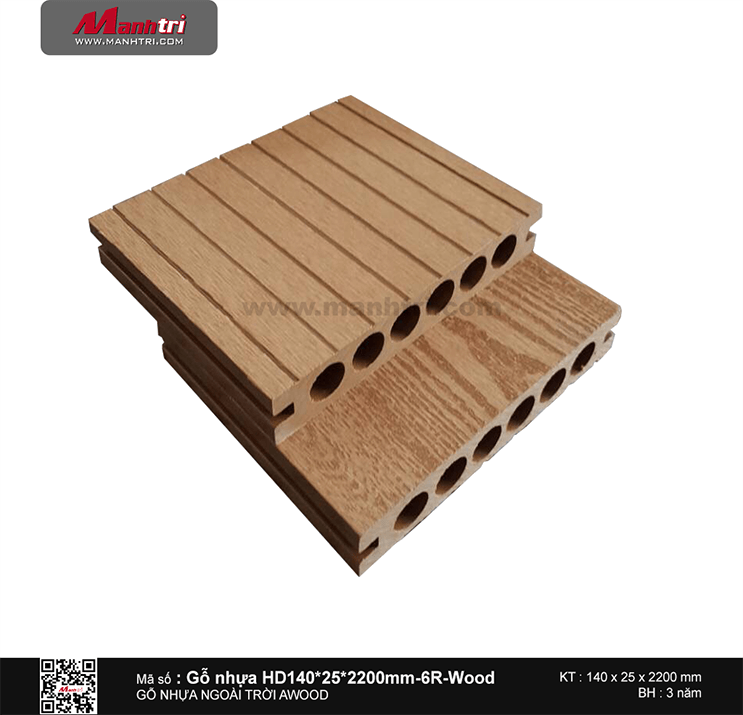 Sàn gỗ Awood HD140x25-6R Wood
