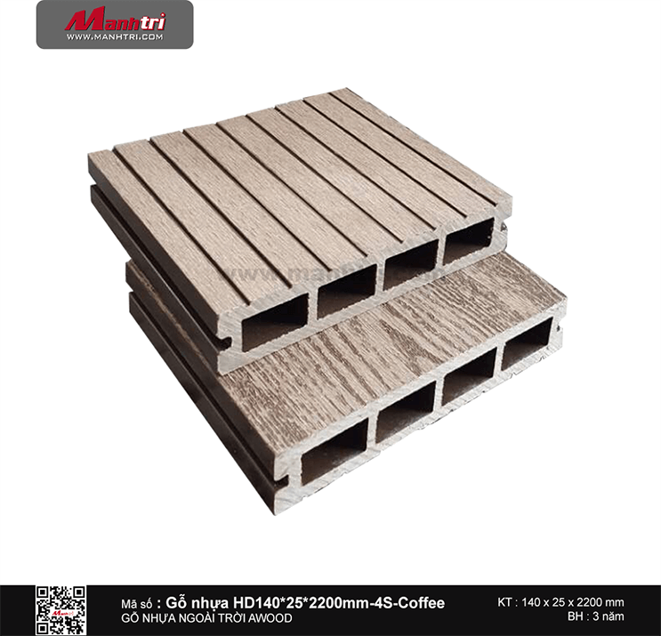 Sàn gỗ Awood HD140x25-4S Coffee