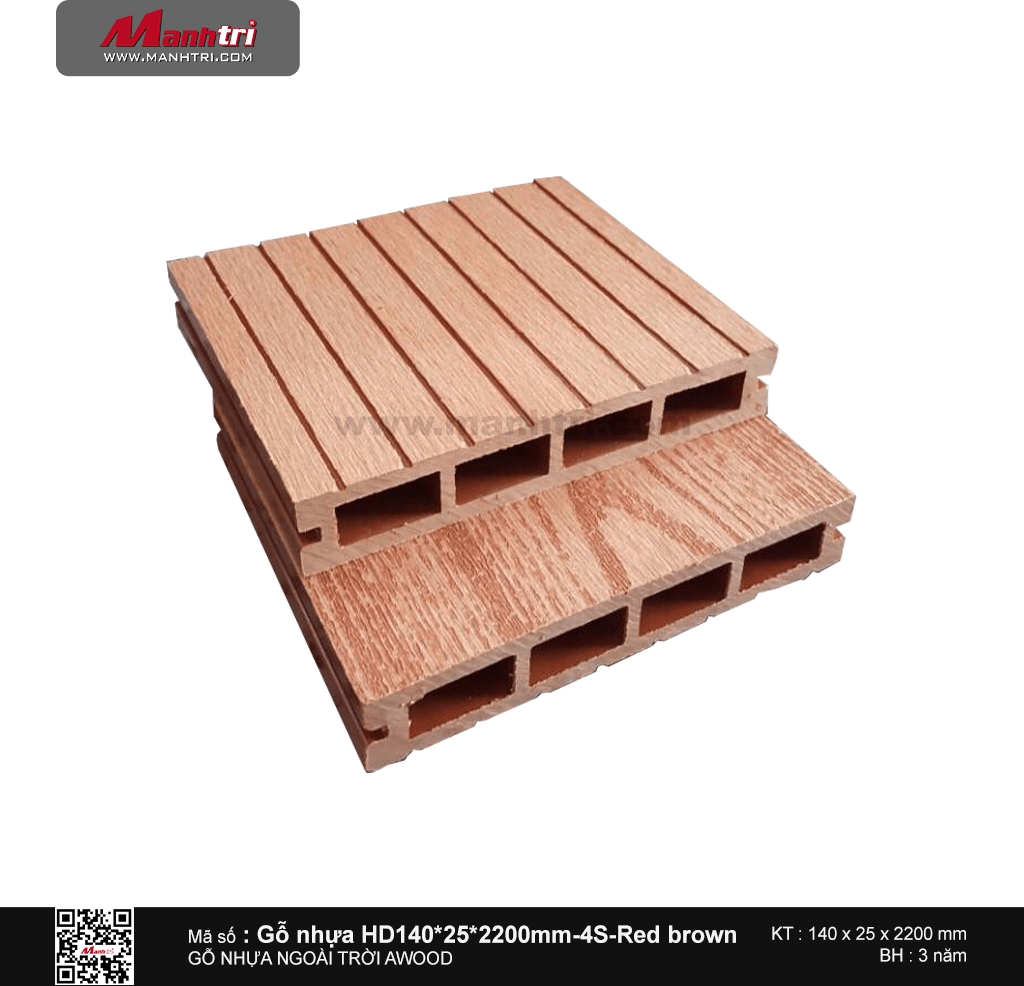 Sàn gỗ Awood HD140x25-4S Red brown