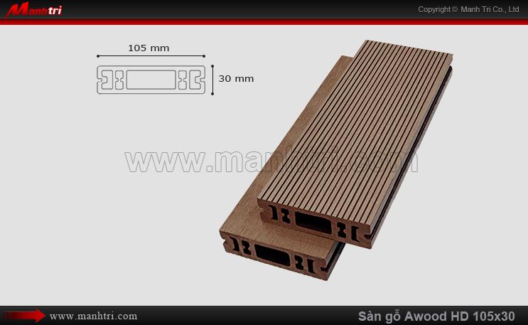 Sàn gỗ Awood HD105x30 Cafe