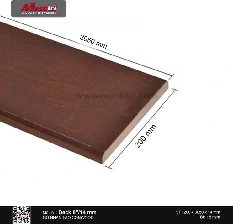 """Sàn gỗ CONWOOD DECK 8""""/14 mm"""