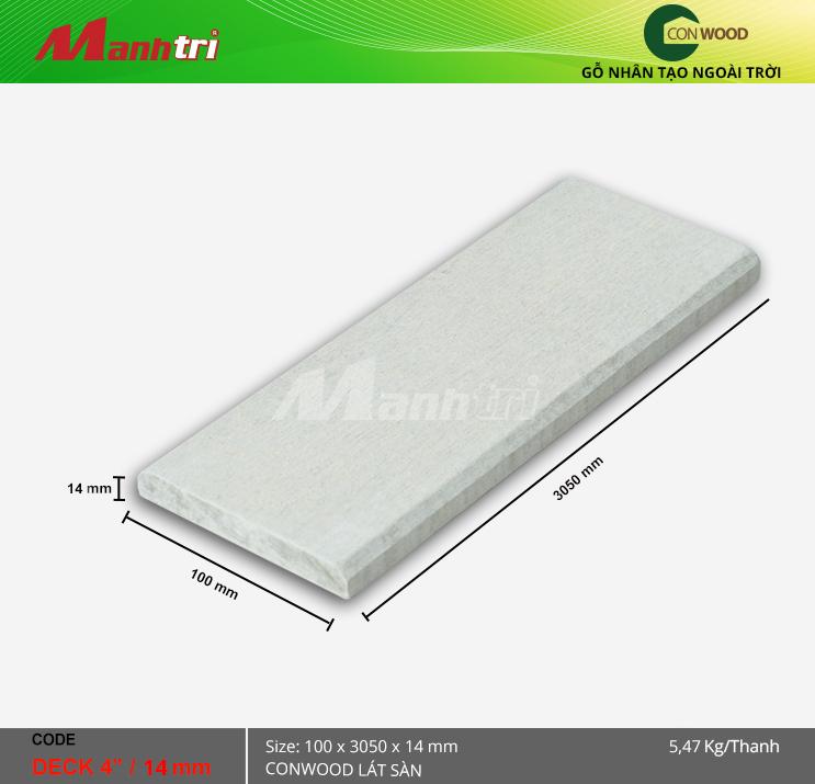 """Sàn Gỗ Conwood Deck 4""""/14 mm"""