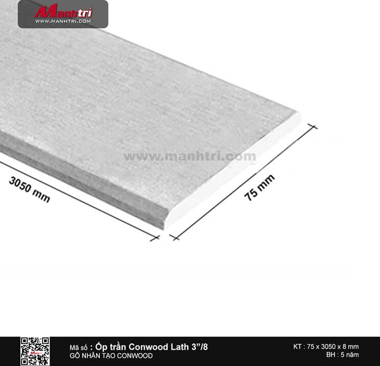 """Ốp trần Conwood Lath 3""""/8 mm"""