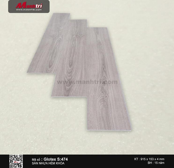 Sàn nhựa hèm khóa Glotex S:474