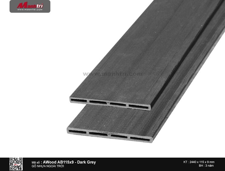 Ốp trần Awood AB115X9-Dark Grey