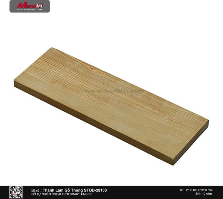 Thanh lam gỗ thông STOD-28100