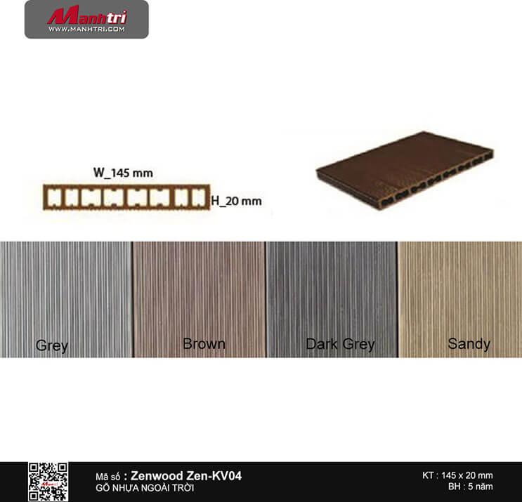 Gỗ nhựa Zenwood Zen-KV04