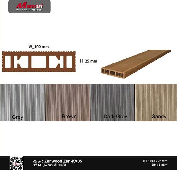 Gỗ nhựa Zenwood Zen-KV05