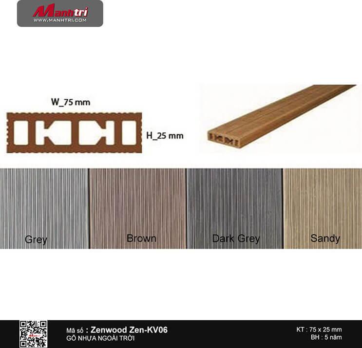 Gỗ nhựa Zenwood Zen-KV06