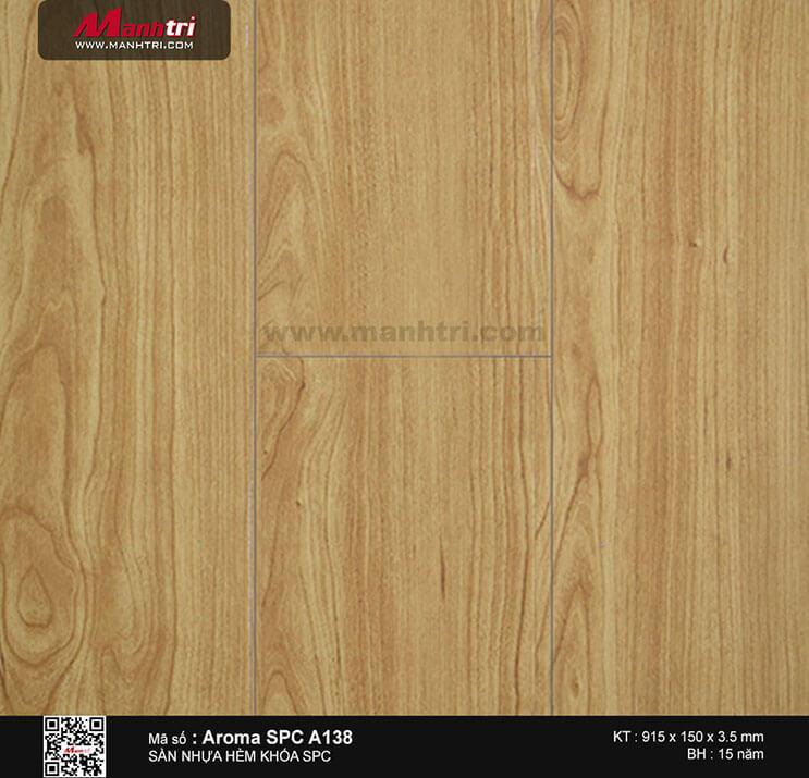 Sàn nhựa hèm khóa Aroma SPC A138