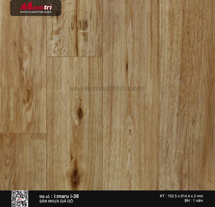Sàn nhựa giả gỗ i:maru i-38