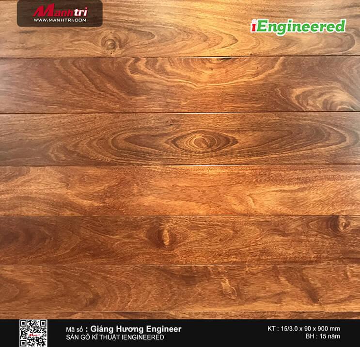 Sàn gỗ kỹ thuật Giáng Hương Engineer