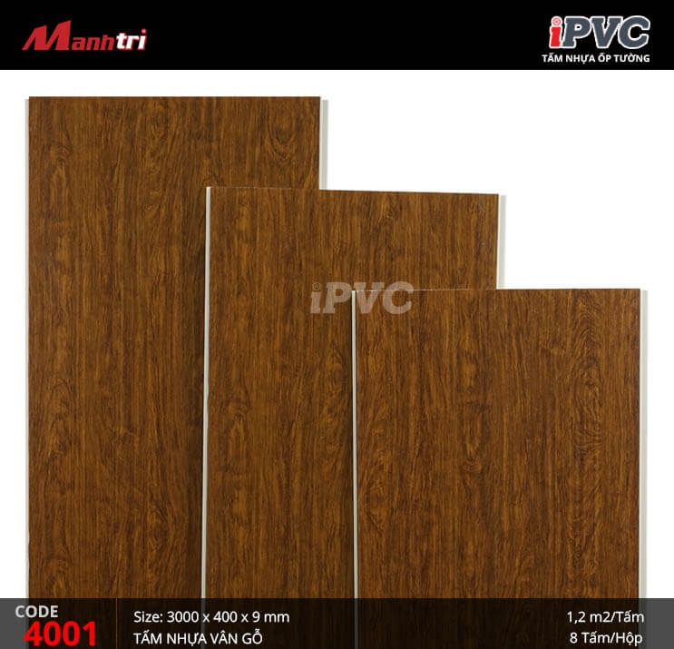 Tấm nhựa iPVC vân gỗ 4001
