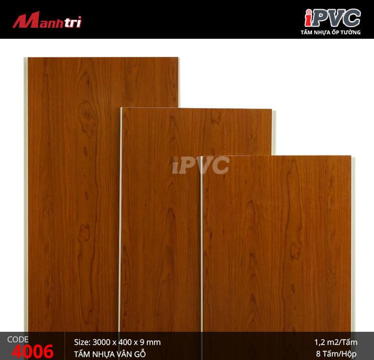Tấm nhựa iPVC vân gỗ 4006