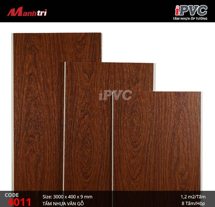 Tấm nhựa iPVC vân gỗ 4011