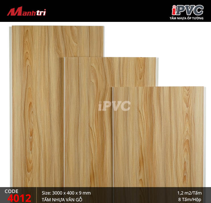 Tấm nhựa iPVC vân gỗ 4012