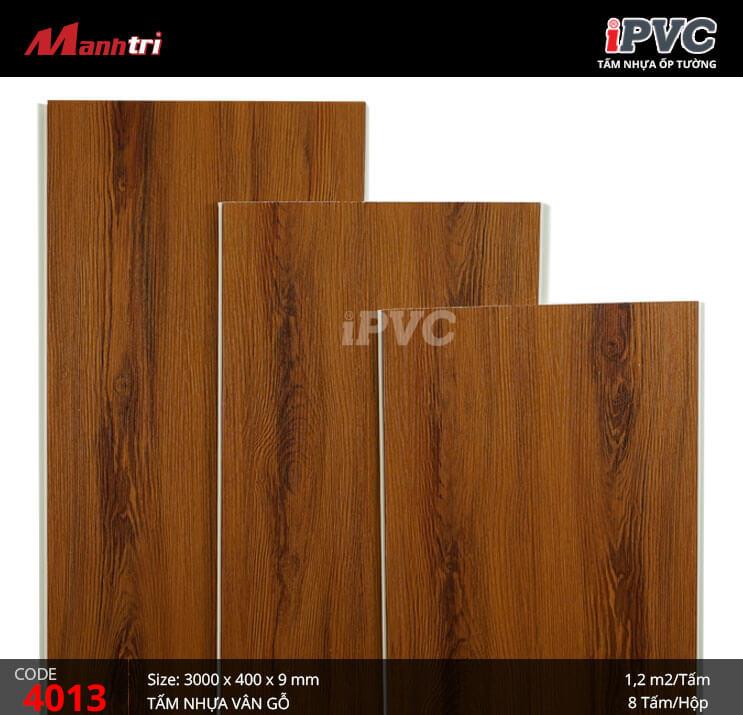 Tấm nhựa iPVC vân gỗ 4013