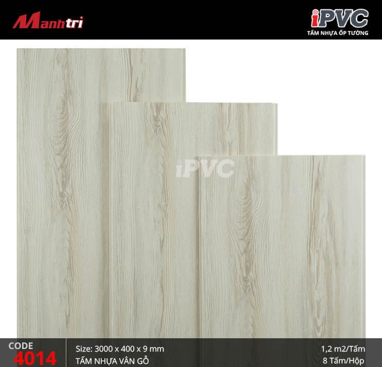Tấm nhựa iPVC vân gỗ 4014
