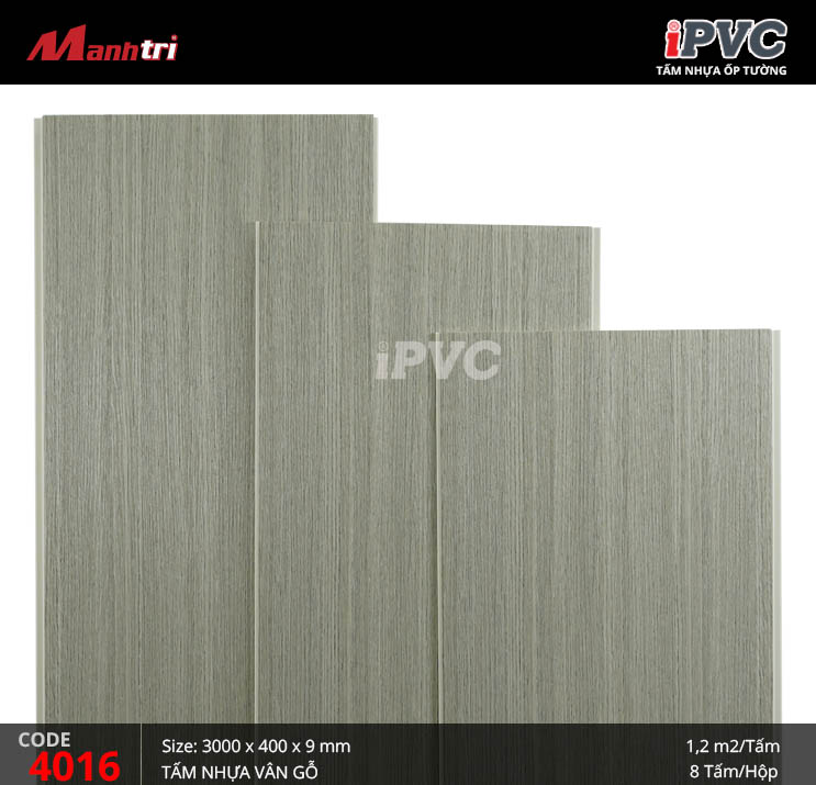 Tấm nhựa iPVC vân gỗ 4016