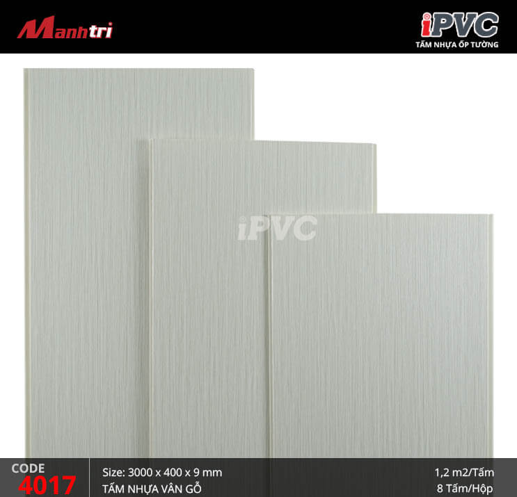 Tấm nhựa iPVC vân gỗ 4017