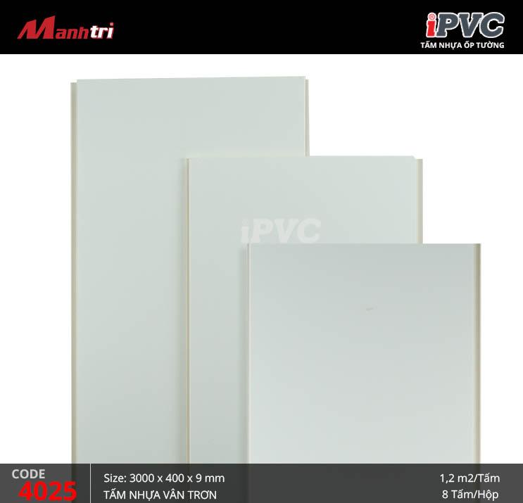 Tấm nhựa iPVC vân trơn 4025