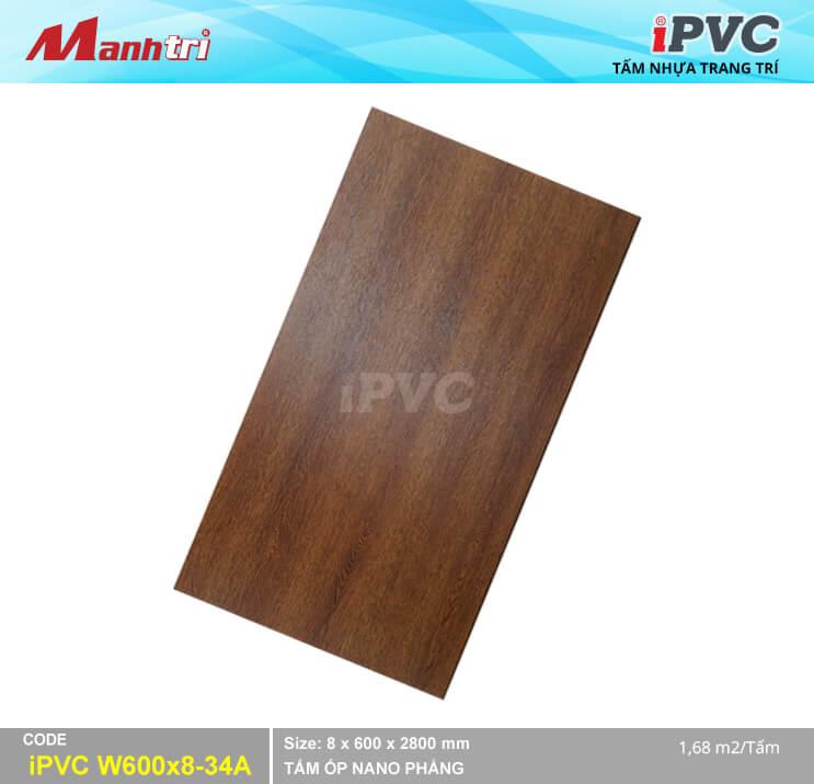 Tấm Nhựa IPVC Vân Gỗ W600x8-34A