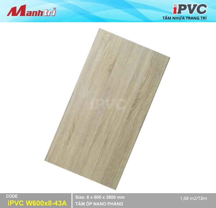 Tấm Nhựa IPVC Vân Gỗ W600x8-43A