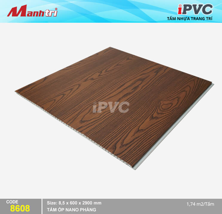 Tấm nhựa iPVC Vân Gỗ 8608
