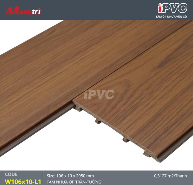 iPVC W106x10-L1 ốp trần, tường
