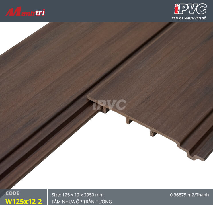 iPVC W125x12-2 ốp trần, tường