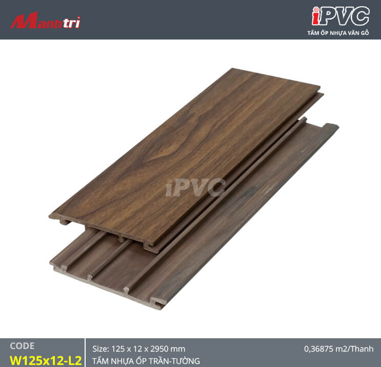 iPVC W125x12-L2 ốp trần, tường
