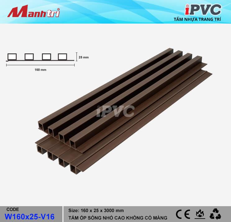 iPVC W160x25-V16 Ốp Trần, Tường