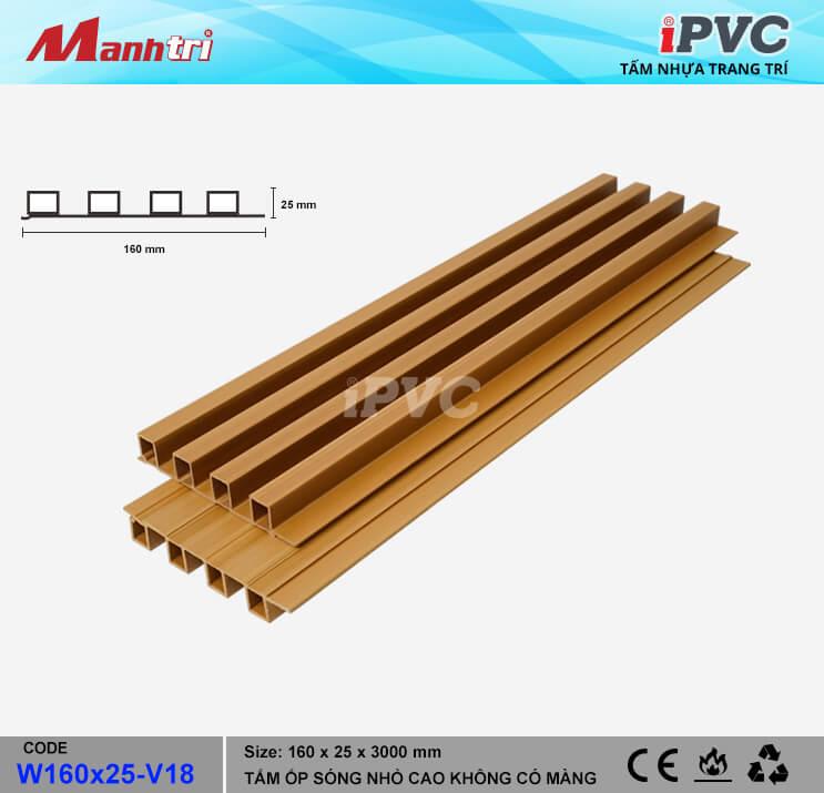iPVC W160x25-V18 Ốp Trần, Tường