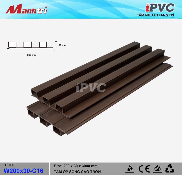 iPVC W200x30-C16 Ốp Trần, Tường