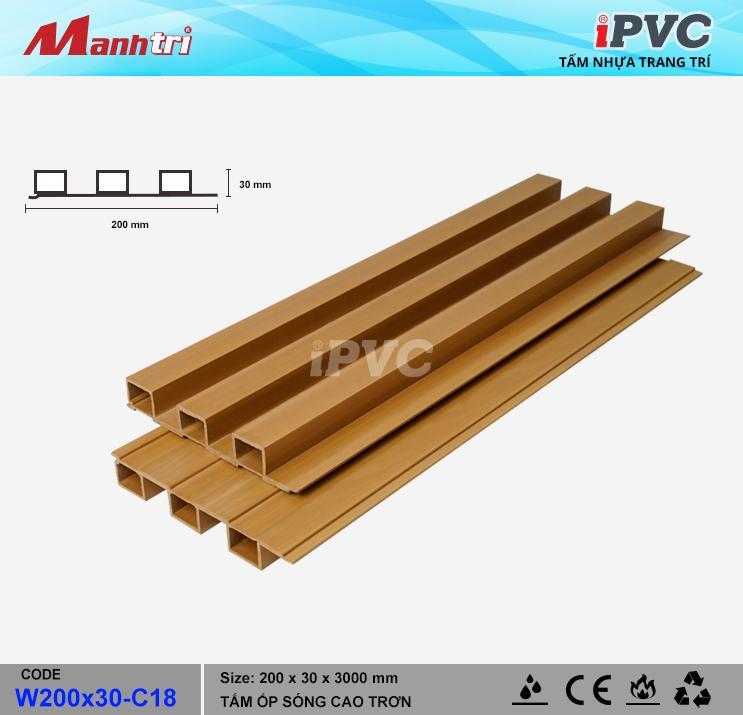 iPVC W200x30-C18 Ốp Trần, Tường