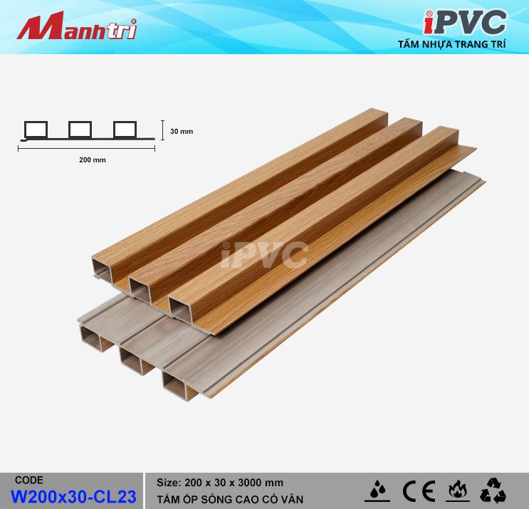 iPVC W200x30-CL23 Ốp Trần, Tường