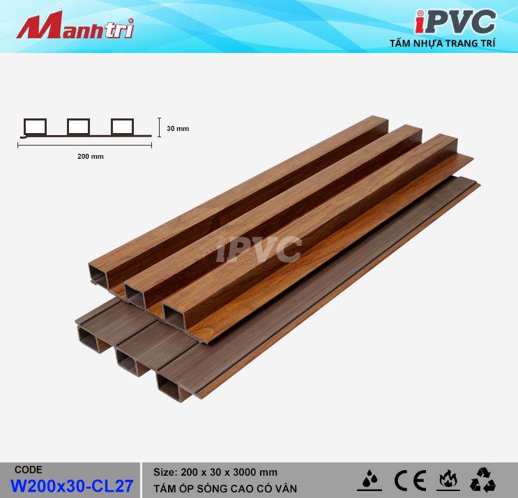iPVC W200x30-CL27 Ốp Trần, Tường