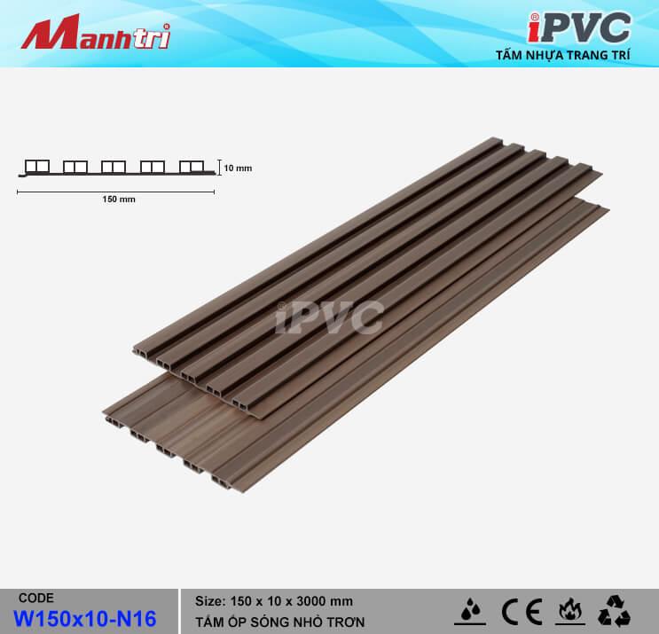 iPVC W150x10-N16 Ốp Trần, Tường