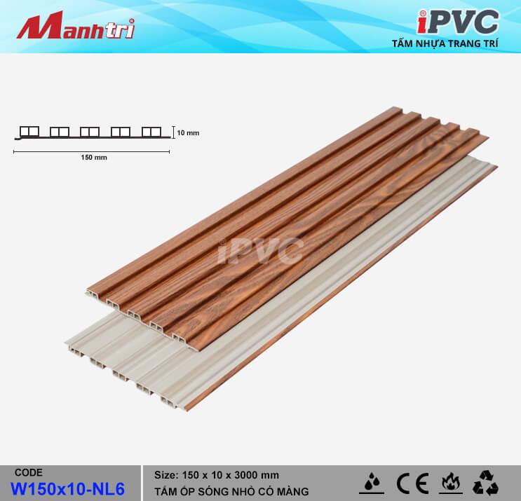 iPVC W150x10-NL6 Ốp Trần, Tường