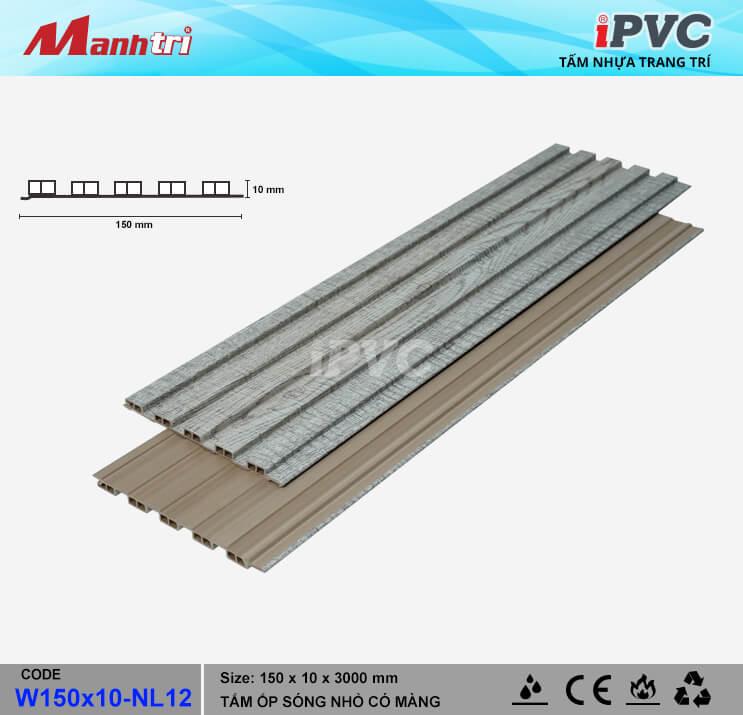 iPVC W150x10-NL12 Ốp Trần, Tường