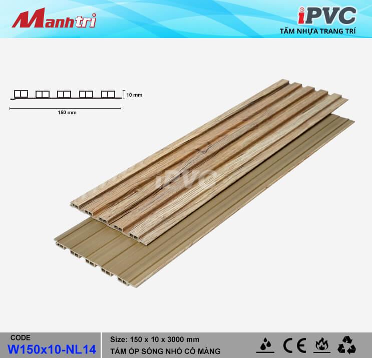 iPVC W150x10-NL14 Ốp Trần, Tường