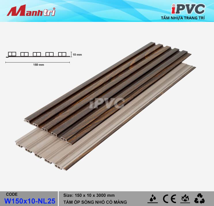 iPVC W150x10-NL25 Ốp Trần, Tường