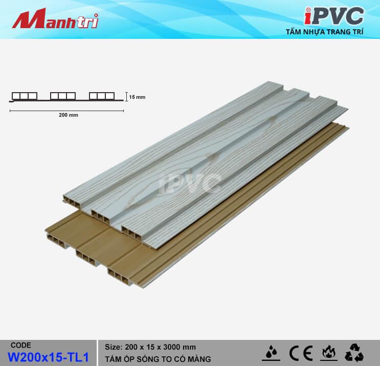 iPVC W200x15-TL1 Ốp Trần, Tường